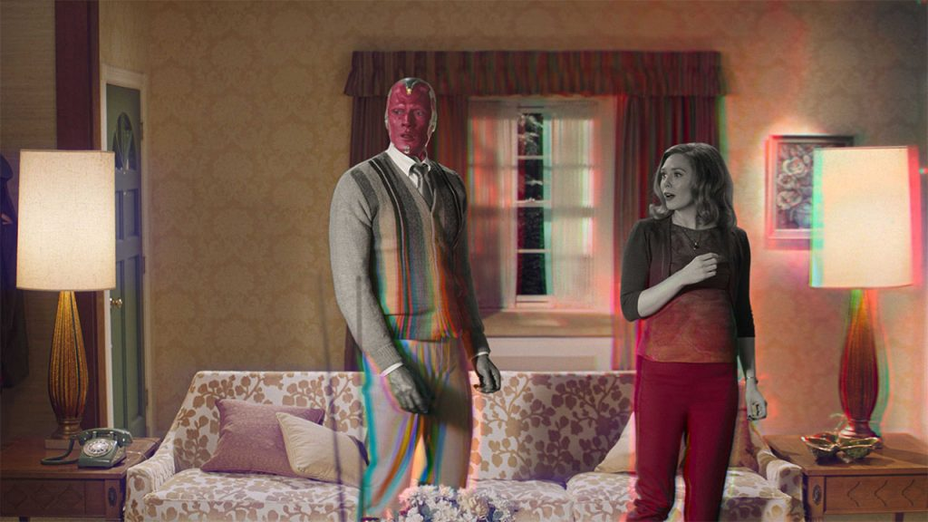 Wanda and Vision in their living room